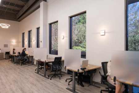CoWorking Space with private room and open seating